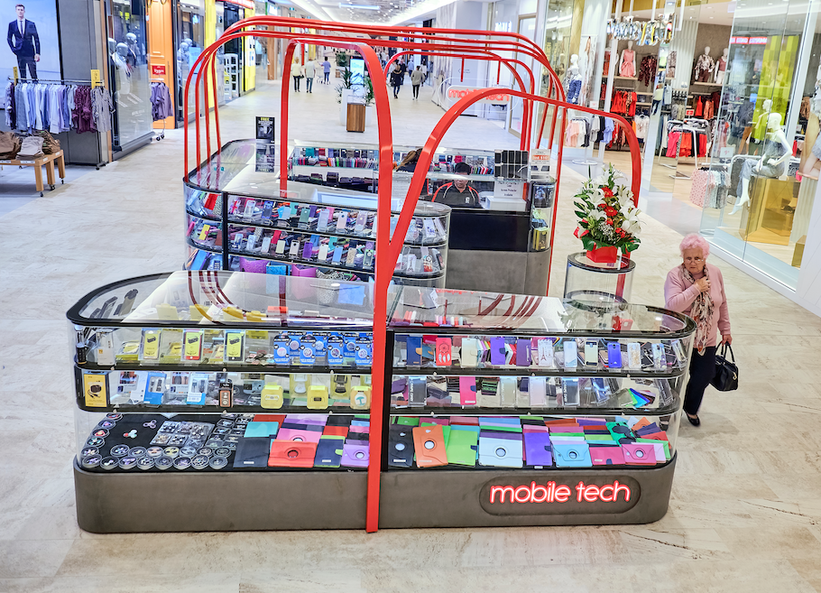 Mobile Tech Kiosk Design and Manufacture Mandurah Shopping Centre